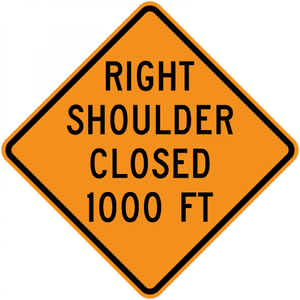 CW21-5b-Shoulder Closed (with distance) - Municipal Supply & Sign Co.
