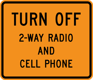 CW22-2-Tum Off 2-Way Radio and CellPhone - Municipal Supply & Sign Co.