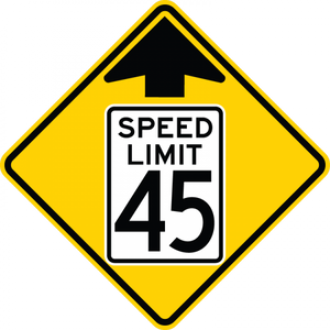 W3-5-Reduced Speed Limit Ahead Sign