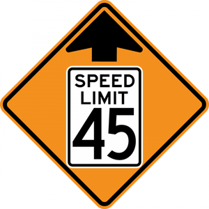 CW3-5-Reduced Speed Limit Ahead - Municipal Supply & Sign Co.