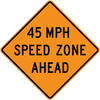 CW3-5a-XX MPH Speed Zone Ahead - Municipal Supply & Sign Co.