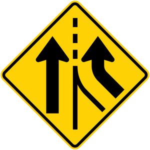 W4-3-Added Lane Sign
