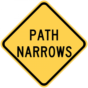 W5-4a-Path Narrows - Municipal Supply & Sign Co.