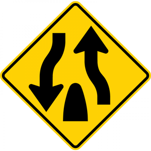 W6-2-Divided Highway Ends