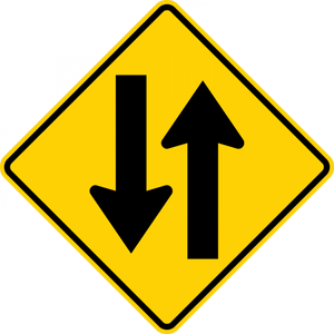 W6-3-Two-Way Traffic Sign