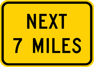 W7-3aP-Next XX Miles Sign (plaque) - Municipal Supply & Sign Co.
