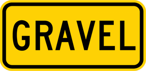 W7-4eP-Gravel Sign (plaques)
