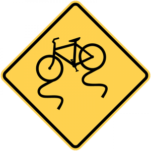 W8-10-Bicycle Surface Condition - Municipal Supply & Sign Co.