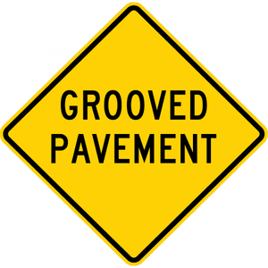 W8-15-Grooved Pavement Sign