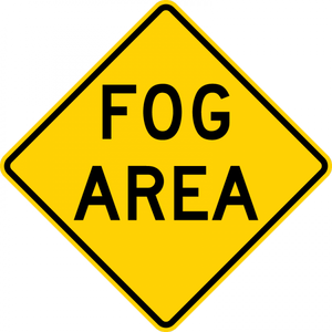 W8-22-Fog Area Sign