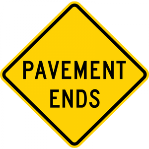 W8-3-Pavement Ends Sign