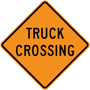 CW8-6-Truck Crossing - Municipal Supply & Sign Co.