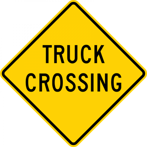 W8-6-Truck Crossing Sign - Municipal Supply & Sign Co.