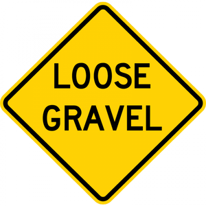 W8-7-Loose Gravel Sign - Municipal Supply & Sign Co.