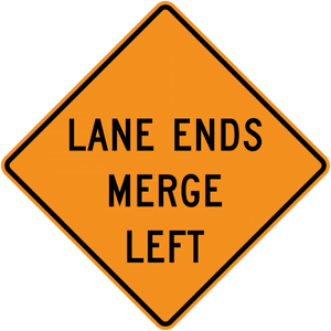 CW9-2-Lane Ends - Municipal Supply & Sign Co.