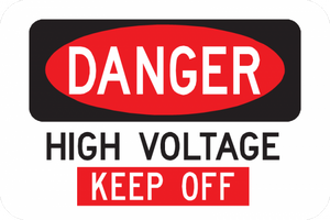 Danger High Voltage Keep Off Sign - Municipal Supply & Sign Co.