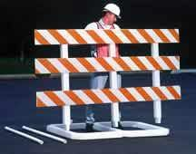 Large Plastic Barricade - Municipal Supply & Sign Co.