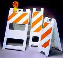 Plastic Barricades - Municipal Supply & Sign Co.