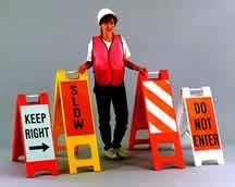 Plastic Sandwich Board Barricades - Municipal Supply & Sign Co.