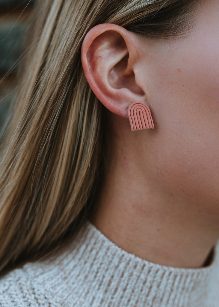 Mini Anu'u Stud Clay Earring
