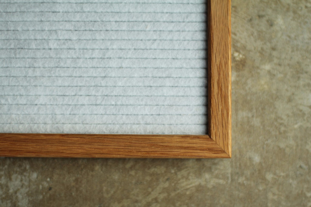 White Hand Crafted Letter Board
