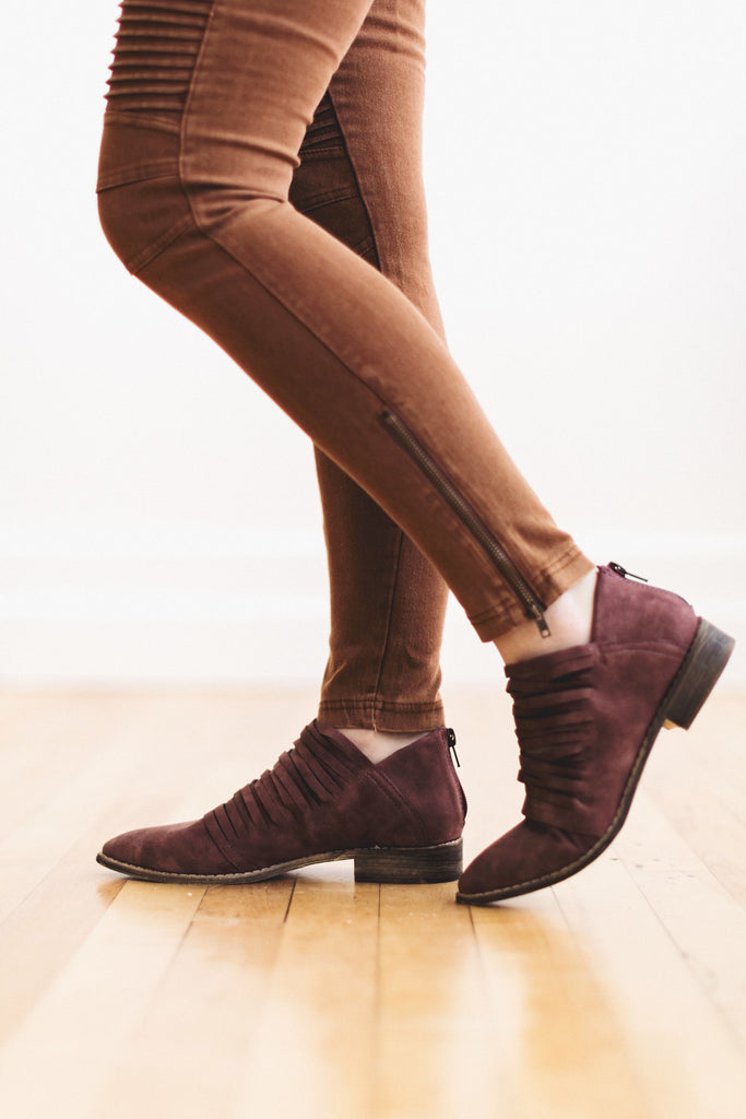 The Eleanor Bootie in Wine