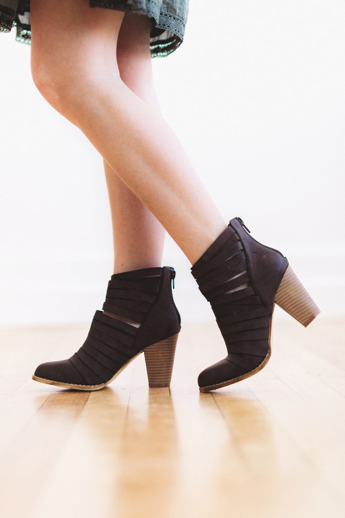 The Vivian Bootie in Charcoal