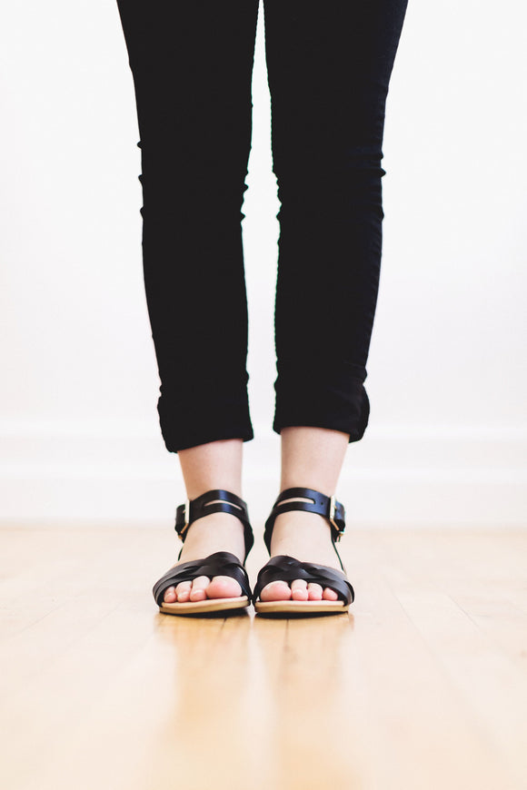 The Evie Sandal in Black