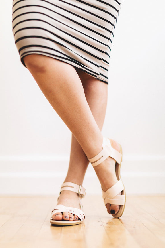 The Evie Sandal in Cream