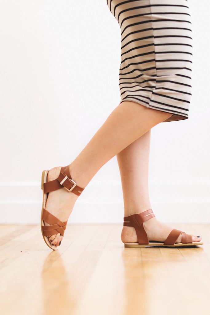 The Noelle Sandal in Brown