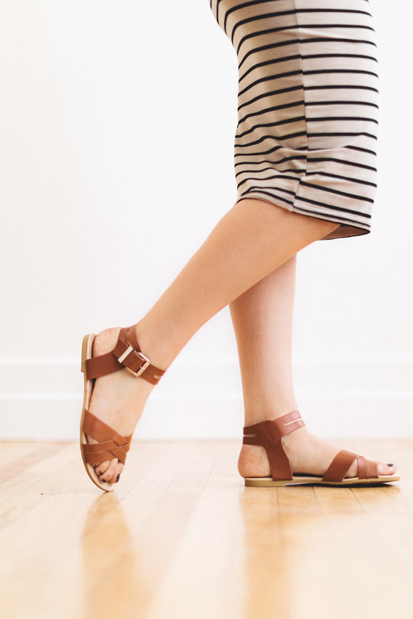 The Evie Sandal in Brown