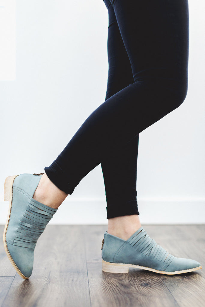 The Eleanor Bootie in Smoke Blue