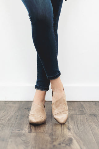 The Freya Bootie in Taupe