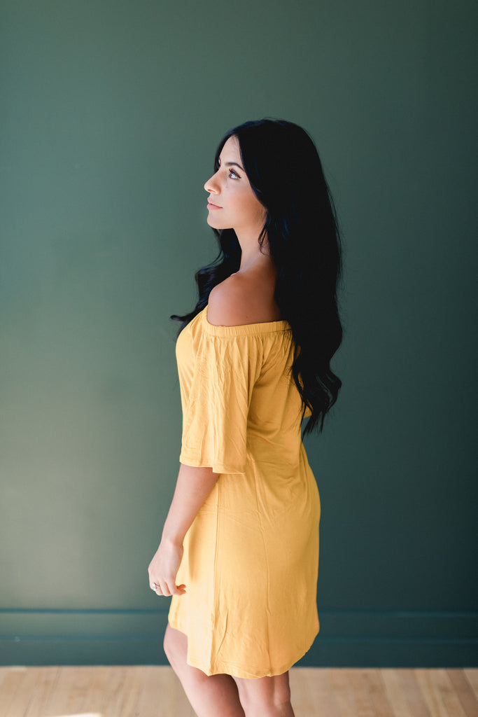 The Victoria Dress in Yellow