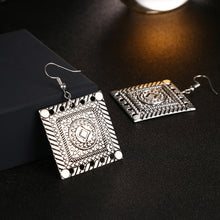 Boho Vintage Square Earrings
