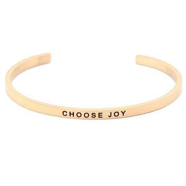 Choose Joy Gold Cuff