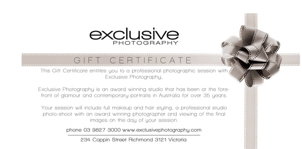 Voucher - Photographic Session plus $900.00 towards an order