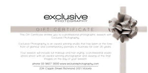 Voucher - Photographic Session plus $800.00 towards an order
