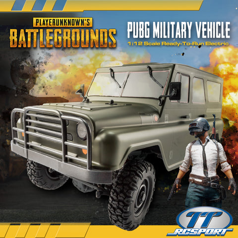 PUBG RTR PUBG Military Vehicle 1/12 Electric RTR