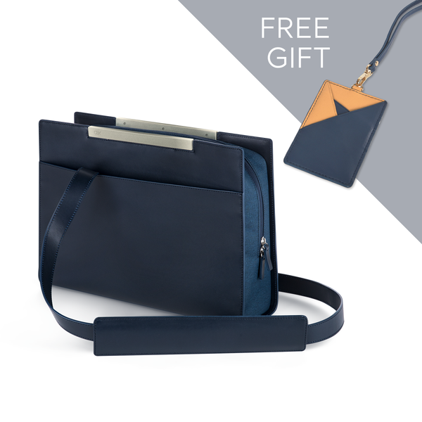 Commuter Bag & Navy/Yellow Cardholder set