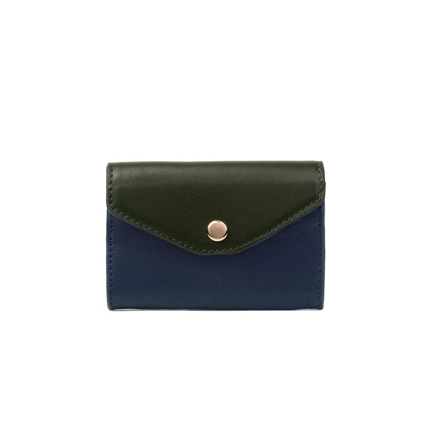 2 Tone Card Holder, Navy/Kale