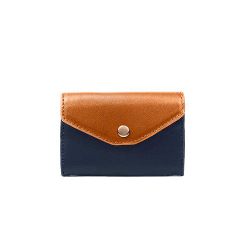 2 Tone Card Holder, Navy/Melon