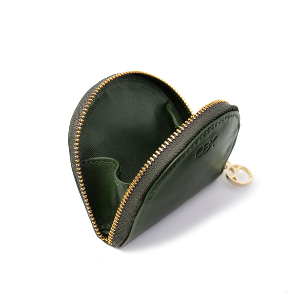 Half-moon Coin Purse, Kale