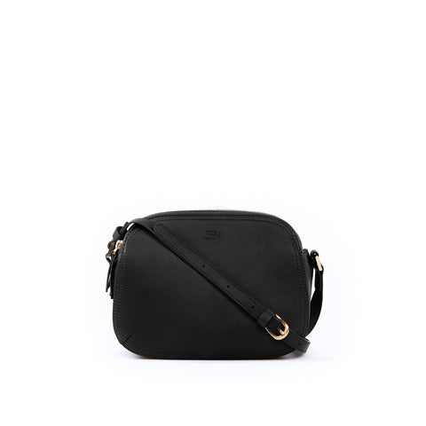 Rounded Shoulder Bag, Black