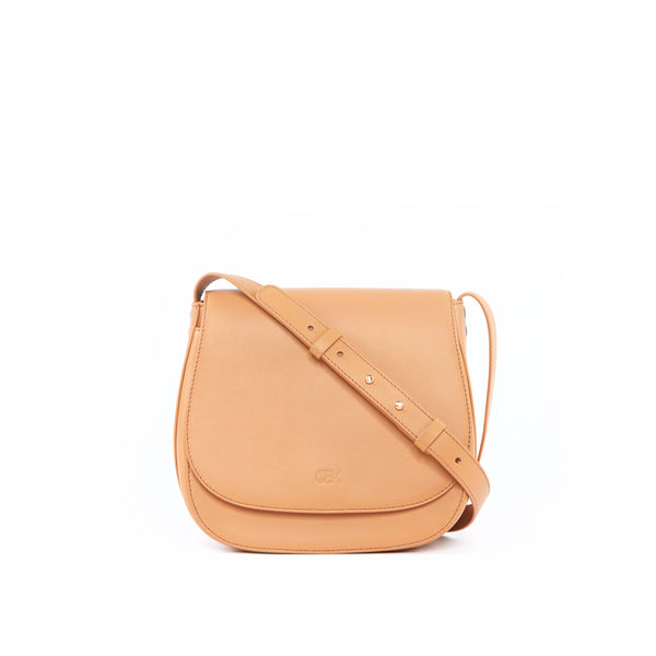 Classic Multi-Gussets Saddle Bag, Camel