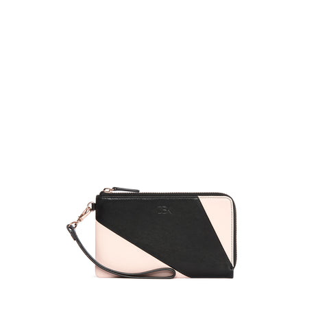 Leather Functional Pouch, Rose/Black