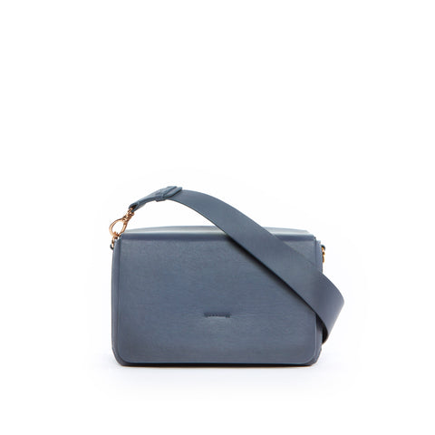 Box Shoulder Bag, Grey Blue