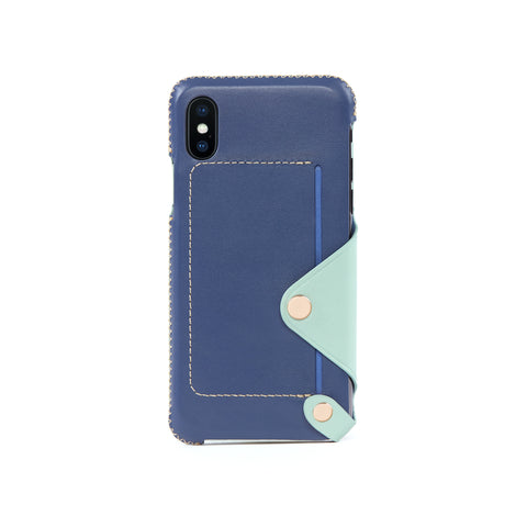 Leather Pocket Case for iPhone X / iPhone Xs, Seaform