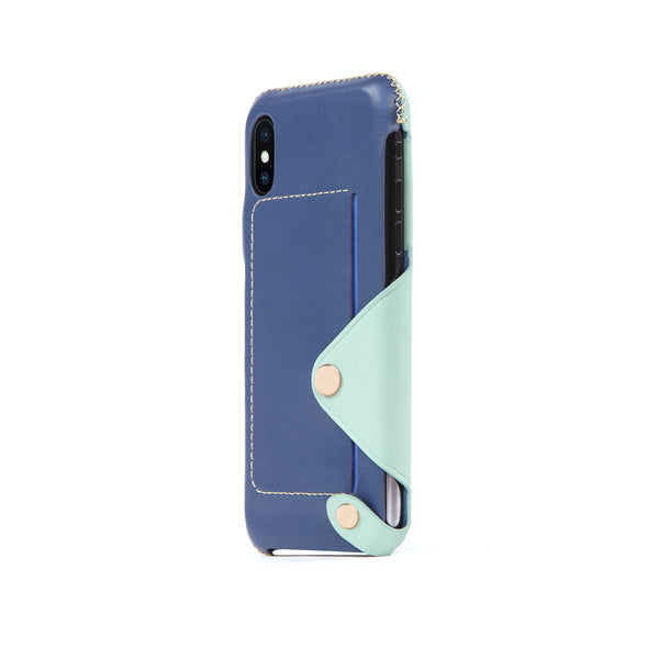 Leather Pocket Case for iPhone X / iPhone Xs, Seafoam