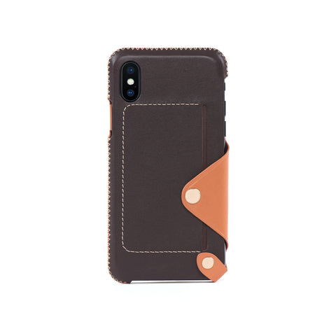 Leather Pocket Case for iPhone X / iPhone Xs, Irish Layered